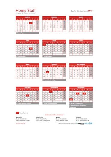Calendario Laboral Espana 2019.Nuevo Calendario Laboral Para 2019