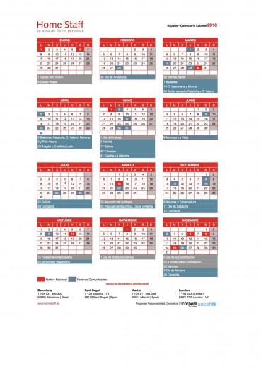 Calendario Laboral Gipuzkoa 2019.Calendario Laboral Empleadas Hogar Espana