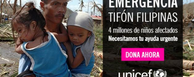 Colabora con UNICEF para ayudar a niños y niñas de #Filipinas